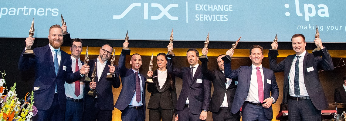 The winners of the Swiss Derivative Awards 2019